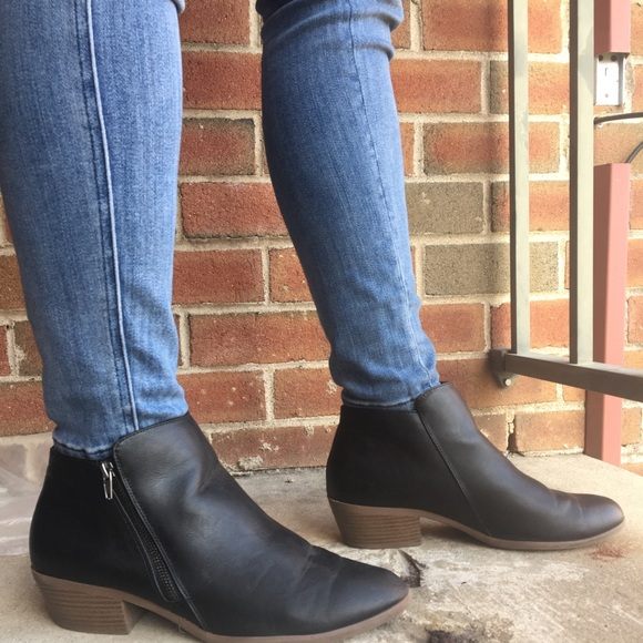 563e5eb239e Women's size 12 black ankle booties. Low heel
